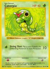 Caterpie - 45/102 - Common - Shadowless Edition