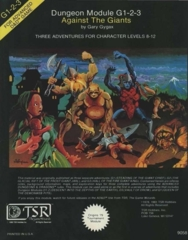 Dungeon Module G1-2-3: Against the Giants 9058