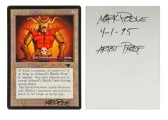 Ashnods Battle Gear: V0003: Artist Proof: Autograph/Signature: Mark Poole: Black