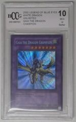 V0020: 2002 Gaia the Dragon Champion - LOB-125 - Unlimited - Legend of Blue Eyes White Dragon: BCCG: 10: Mint or Better: 0001086