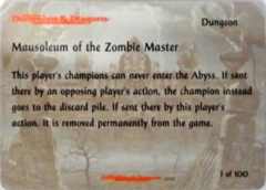 01/100 Mausoleum of the Zombie Master