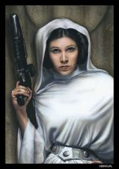 SW Princess Leia: Deck Protectors: 50 Count: Fantasy Flight: SWS16