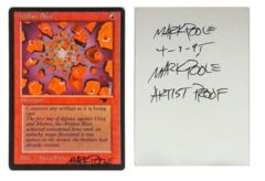 Artifact Blast: V0002: Artist Proof: Autograph/Signature: Mark Poole: Black