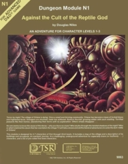Dungeon Module N1: Against the Cult of the Reptile God N1 9063