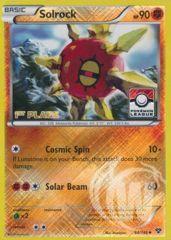 Solrock - 64/146 - Pokemon League Promo Crosshatch Holo 1ST PLACE