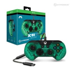 X91 Ice Wired Controller For Xbox One/ Windows 10 PC (Aqua Green) - Hyperkin - Officially Licensed By Xbox