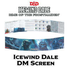 D&D 5th Edition: DM Screen- Icewind Dale, Rime of the Frostmaiden