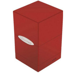 Satin Tower Deck Box Red