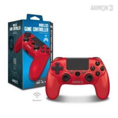 Wireless Game Controller for PS4/ PC/ Mac (Red) - Armor3