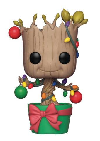 POP MARVEL GROOT W/ LIGHTS & ORNAMENTS VINYL FIG (C: 1-1-2)