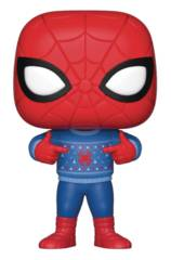 POP Marvel Spider-Man w/ Ugly Sweather Vinyl Figure (C: 1-1-2)