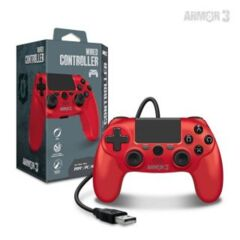 Wired Game Controller for PS4/ PC/ Mac (Red) - Armor3