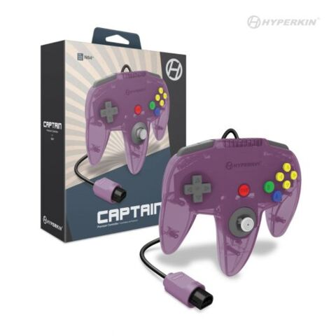 Captain Premium Controller for N64® (Amethyst Purple) - Hyperkin