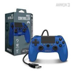 Wired Game Controller for PS4/ PC/ Mac (Blue) - Armor3
