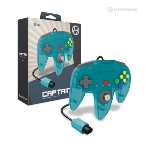 Captain Premium Controller for N64® (Turquoise) - Hyperkin