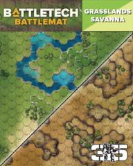 BattleTech: Battle Mat - Grasslands/Savanna