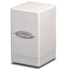 Satin Tower Deck Box White