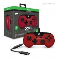 X91 Wired Controller for Xbox One/ Windows 10 PC (Red) - Hyperkin - Officially Licensed by Xbox