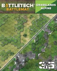 BattleTech: Battle Mat - Grasslands/Alpine