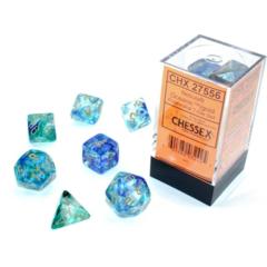 CHX27556 - Nebula - Luminary - Oceanic / Gold Polyhedral 7-Die Set