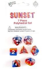 Polyhedral Dice 7 piece set - Sunset