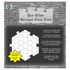 RPG Dry Erase Hexagon Game Tiles