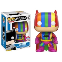Funko POP Heroes Vinyl Figure DC Super Heroes 2016 New York Comic Con Limited Edition - Batman (Rainbow) 01 - EXCLUSIVE