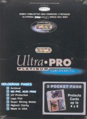Ultra Pro Pages - Platinum 3 Pocket - 4