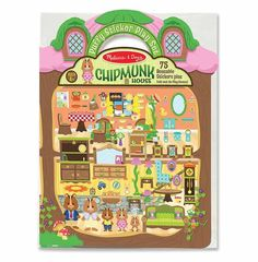 Reusable Puffy Stickers - Chipmunk House - Age 4+