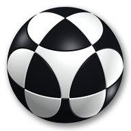 Marusenko Circular Sphere Puzzle - Level 1 - Black & White