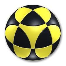 Marusenko Circular Sphere Puzzle - Level 1 - Black & Yellow
