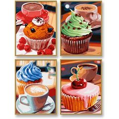 Masterpiece Quatro Painting by Numbers - Cupcakes