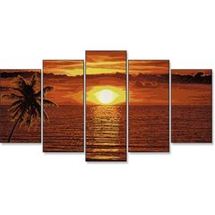 Masterpiece Polyptriptych Painting by Number - Caribbean Sunset