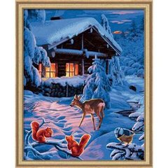 Masterpiece Premium Painting by Number - Romantic Winter
