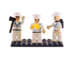 BricTek - Figurines - NAVY Trio - Ages 6+
