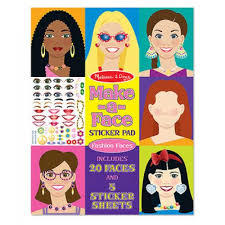 Sticker Pad - Make-a-Face Fashion - Ages 4+