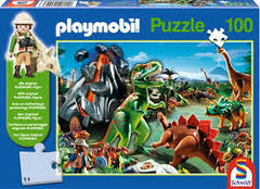 Schmidt Playmobil Puzzle 100 piece: Dino Country- 6+- 56042
