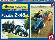 Schmidt Puzzles Puzzle: New Holland Tractors 2 x 48 piece - 4+