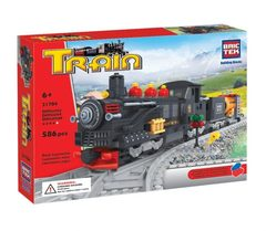 BricTek - Train - Black Locomotive - Ages 6+