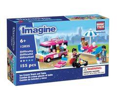BricTek - Imagine - Ice Cream Truck & Table - Ages 6+