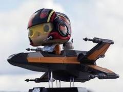 Funko POP Rides Vinyl Bobble-Head Figure Star Wars - Poe Dameron with X-Wing 227 - Smuggler's Bounty Exclusive