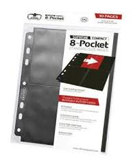 Ultimate Guard - 8 Pocket Supreme Compact Standard Size Pages - 10 pack