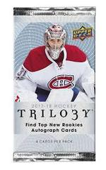 2017-18 NHL Upper Deck Trilogy Hobby Pack - 4 Card per Pack
