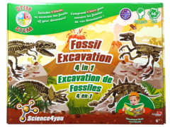 Science4you - Fossil Excavation 4 in 1 - Science Kit