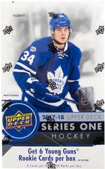 2017-18  NHL Upper Deck Series 1 Hobby Sealed Pack - Hockey