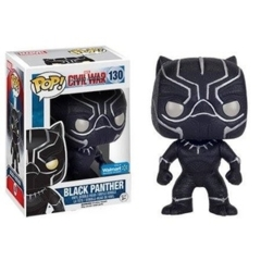 Funko POP Vinyl Bobble-Head Figure Marvel Captain America Civil War - Black Panther 130 (Onix Glitter) EXCLUSIVE