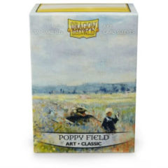 Dragon Shield Sleeves: Art Classic Poppy Field (Box Of 100) - Limited Edition