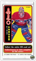 2018-19 Upper Deck O-Pee-Chee NHL Hockey Hobby Pack