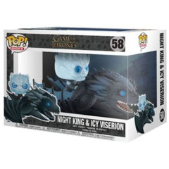 Funko POP Rides Vinyl Figure Game of Thrones GOT - Night King & Icy Viserion 58 (Glow in the Dark)