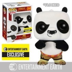 Funko POP Vinyl Figure Movies Dreamworks Kung Fu Panda - EE Exclusive - Po (Flocked) 250 - EXCLUSIVE